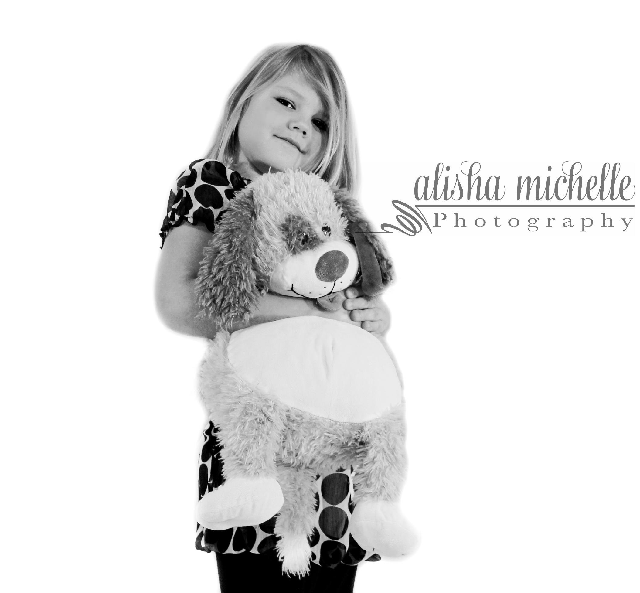 loves her teddybear